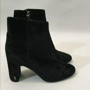 Saint Laurent Loulou  velvet uncle  boots